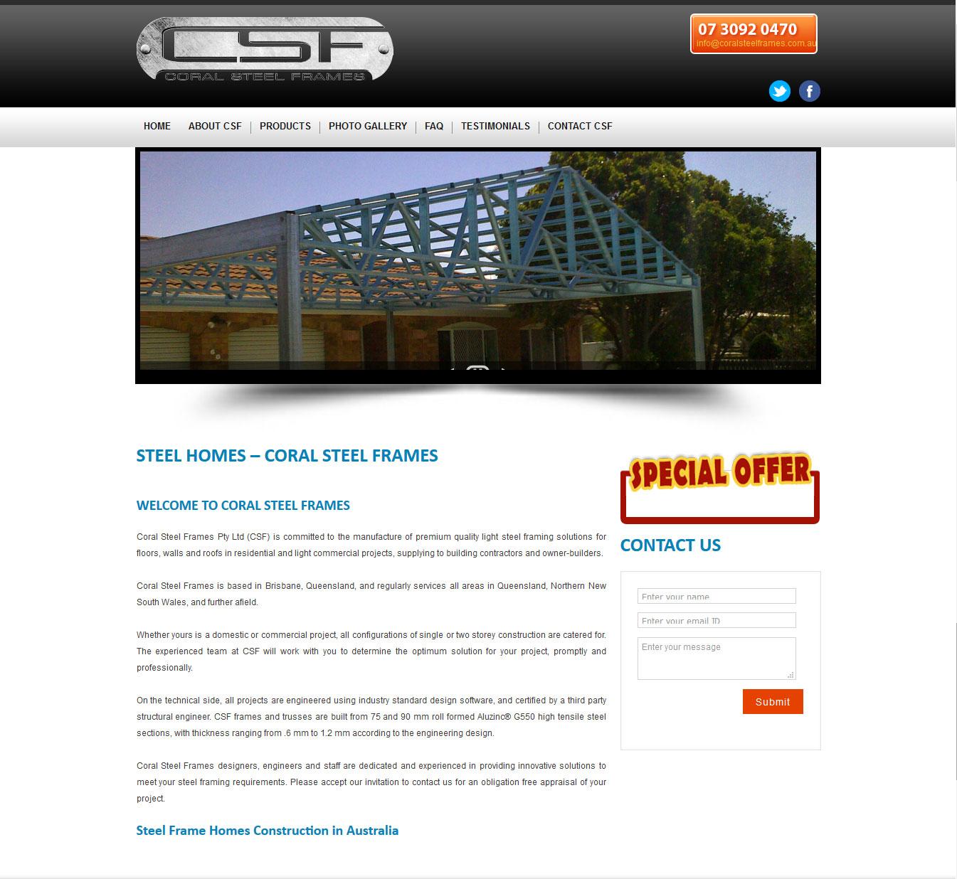 Coral Steel Frames