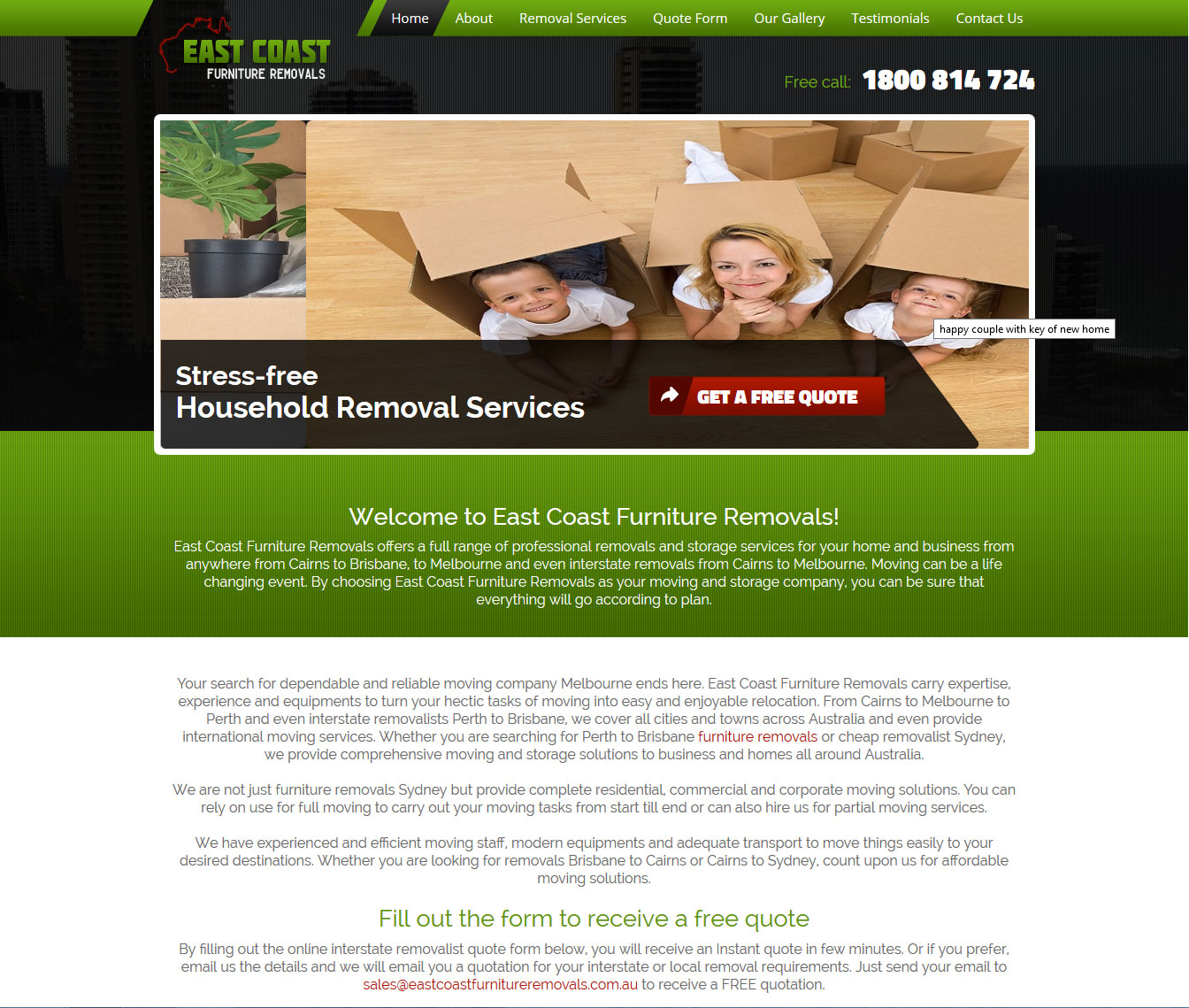 East Coast Furniture Removals